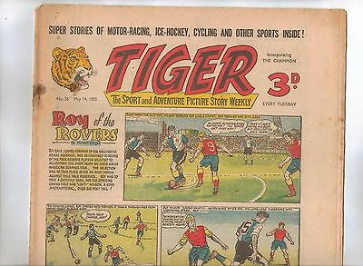 Tiger Comic No 36 (1955) - VG/VG+ - Roy of the Rovers
