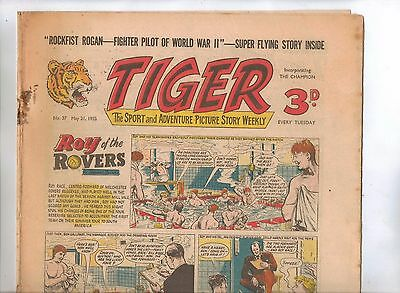Tiger Comic No 37 (1955) - VG/VG+ - Roy of the Rovers