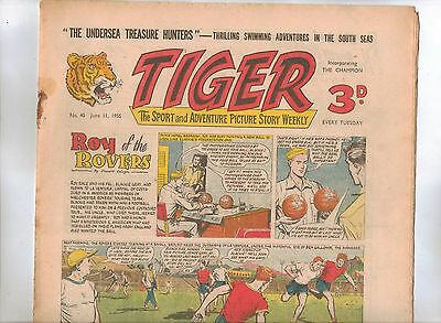 Tiger Comic No 40 (1955) - VG/VG+ - Roy of the Rovers