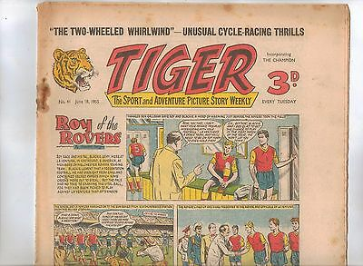 Tiger Comic No 41 (1955) - VG/VG+ - Roy of the Rovers