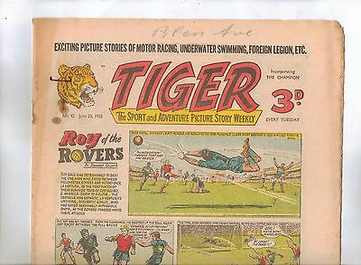 Tiger Comic No 42 (1955) - VG/VG+ - Roy of the Rovers