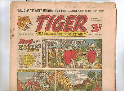 Tiger Comic No 43 (1955) - VG/VG+ - Roy of the Rovers