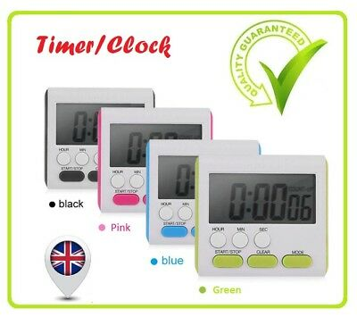 Business Home Big LCD Digital Cooking  Kitchen Countdown UP Timer Alarm BH