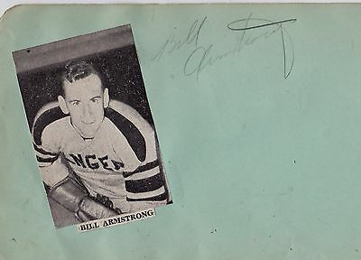 Signed Bill Armstrong 1925-1989 Canada Earls Court Rangers New Waterford 1940s