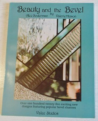 1988 'Beauty and the Bevel' Stained Glass Pattern Book OOP Signed Alee Soderman