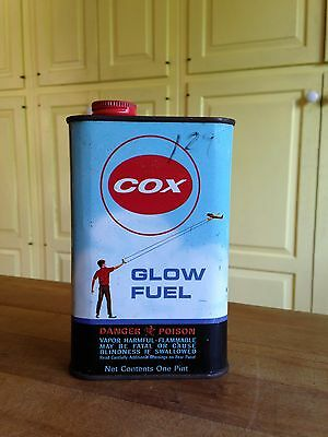 VINTAGE COX GLOW FUEL One Pint Can Advertising Tin