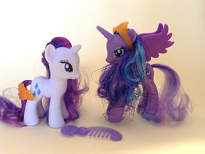 My little Pony / G4 / 	Princess Luna and Rarity / 10 cm /  8cm  / 2012