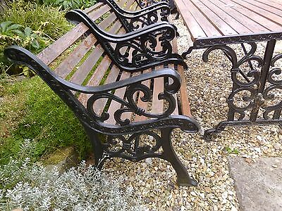 garden furniture , cast iron  1 x bench 2 x chairs + table