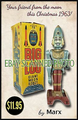 Marx Toys 1963 Big Loo Giant Moon Robot Store Front Display Repo Poster