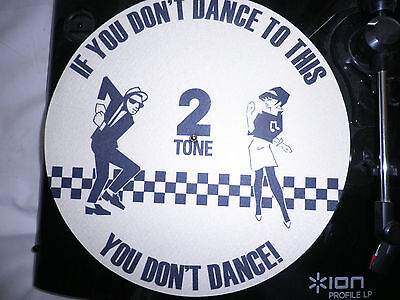 "d j turntable slip mat two tone ska mod vinyl 12""record the specials madness mod"