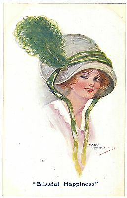 Glamour - Blissful Happiness by Mary Horsfall - huge hat - Carlton - c1916