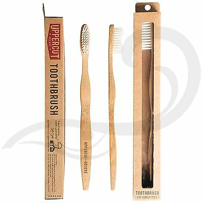 Uppercut Deluxe Bamboo Toothbrush Eco-Friendly Wooden Manual Toothbrush