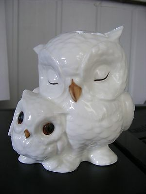 "Royal Osborne White China ""mother & Baby Owl"""