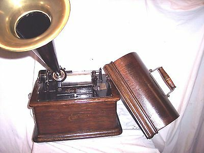 Edison Standard Model B Phonograph + Horn With The 2/4 Minute Gearing