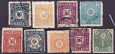 Korea Imperial Period,9 Classic Forgeries, Marked Faux On Reverse