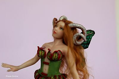 OOAK doll, Aries sign, fairy, collection Zodiac,1:12 scale, by Diana Genova