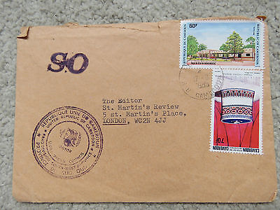 Vintage 1985 Cameroon Cover - Stamp of Mayor of Limbe Council