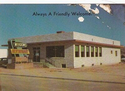 Tucumcari,New Mexico,Card from Route 66 Restaurant,1950s,Meadows,2 Sided w.Distn