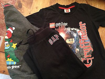 Boys bundle Tshirt joggers and sweat shirt age 5-6 Gap Lego and angry birds