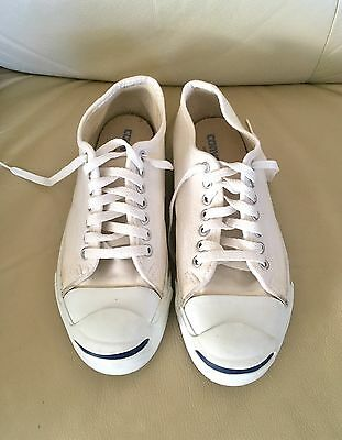 Made In Usa Vintage Converse Jack Purcell White Canvas Size 7.5 Us Men