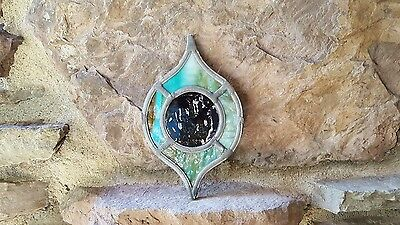 """Small """"ornament"""" 100Yr Old Stained Leaded Glass Suncatcher"""