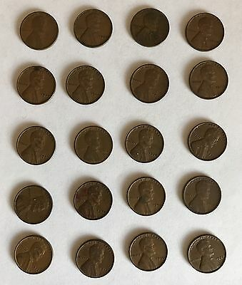 20 Wheat Cents  1917-1942  P/D/S Old coins