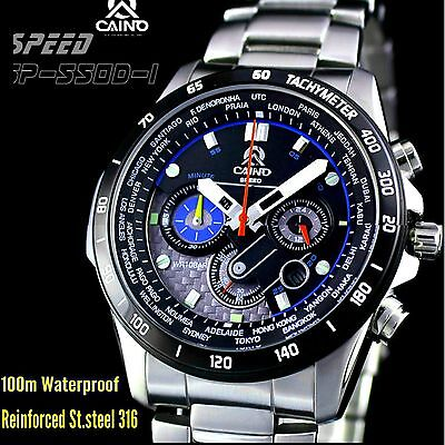 Mens watch stainless steel 100 m waterproof 316L stainless Casima Caino