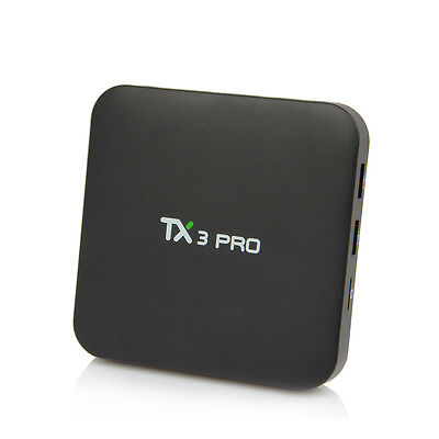 TX3 PRO 2K*4K Smart Quad Core S905X Android 6.0 TV Box Internet Media Player