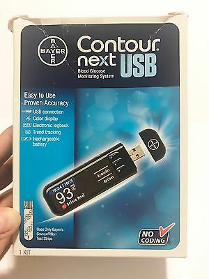 Bayer Contour Next USB Blood Glucose Monitoring System New and Sealed