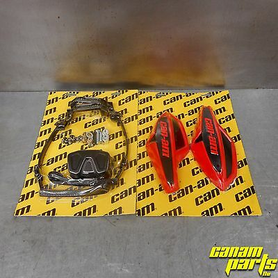 Can-Am Red Wind Deflector Hand Guard Kit w/ Mounting Kit Complete Wrap Around
