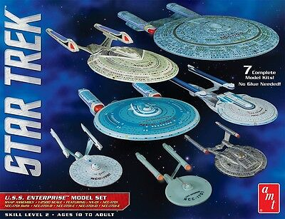 AMT 1:2500 Star Trek USS Enterprise Snap Box Model Set AMT954