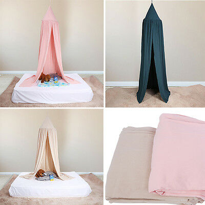 3 Colors Bedcover Mosquito Net Round Dome Bed Canopy for Kid Children Play UK
