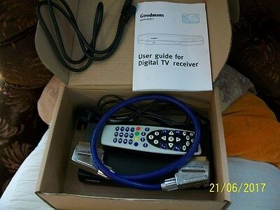 Goodmans Digital TV Freeview GDR11 complete with remote, instructions and cables