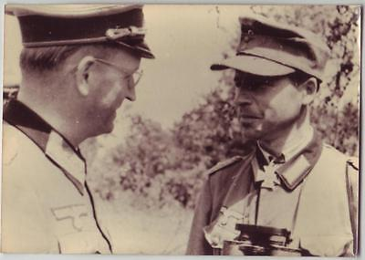 German Wwii Photo From Russian Archive: Two Officers