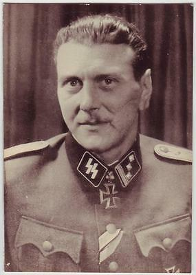 German Wwii Photo From Russian Archive: Personality - Officer In Uniform