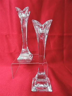Crystal Candlesticks Pair of Nachtmann Lead Crystal Glass Candlesticks