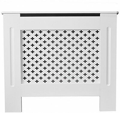 TANBURO Traditional Matte Painted Radiator Cover Cabinet Grill Style White E1 X