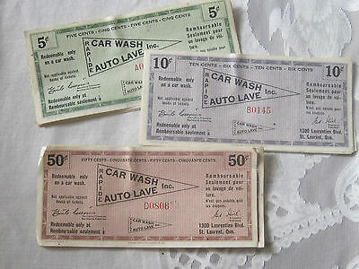 Vintage lot of BP car wash coupons