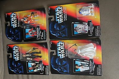 4 The power of the Force Orange 1995 Star Wars Carded Lot 2