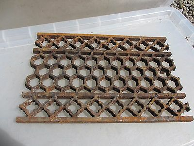 Victorian Iron Floor Grate Grill Manhole Cover Drain Antique Church Gothic 14x9""