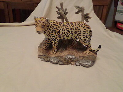 Home Interior Masterpiece Porcelain Endangered Species Figure 11278-01 Leopard