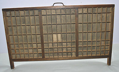 Vintage Printer's Type Tray/Drawer Shadow Box, full size case 147 compartments