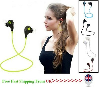 Bluetooth Wireless Handfree Headset Stereo Sports Headphone Earphone UK