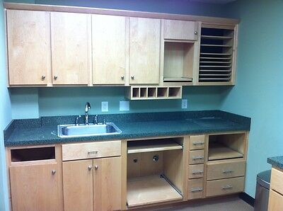 Dental Sterilization Center Cabinetry w/ Solid Wood and Sturdy Countertops