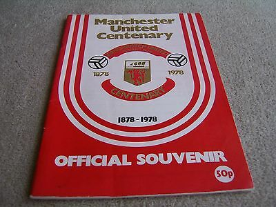 1978 Centenary Souvenir Manchester United v Real Madrid programme / publication