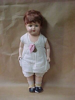 madame hendren composition doll with medal tag