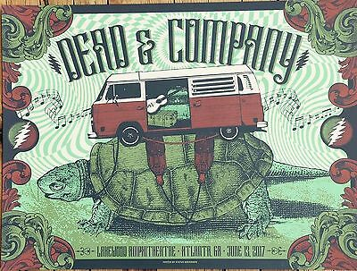 Dead And Company Poster Atlanta 6/13/17 Justin Helton Status Serigraph