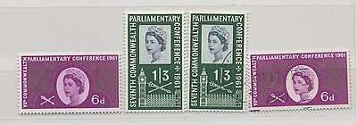 GB 1961 Parliament Conf SG 629 - 630 MiNr 349 - 350 Fine complete MNH + Used set
