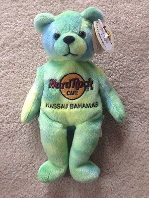 Collectable Hard Rock Cafe Monty Beara Bear Nassau Bahamas 2001