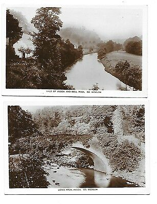 AVOCA Lot 2 Early RP COUNTY WICKLOW Postcard Lion's Arch Vale Bell Rock